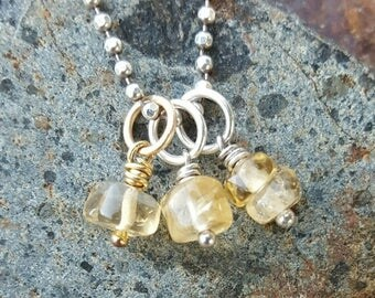 ON SALE TODAY Citrine Charm - November Birthstone - Gold or Silver
