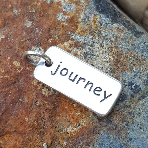 Journey Word Charm - Sterling Silver Graduation Necklace