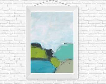 Landscape painting, original art, abstract landscape, fine art