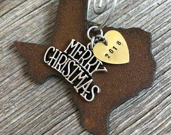 TEXAS Christmas Ornament SMALL, Texas Ornament, Christmas Gifts 2018 Christmas Ornaments, Personalized Gift, TEXAS Ornaments