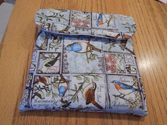 Stamparatus Portfolio Case  with Pocket Flap Cover Bird Design