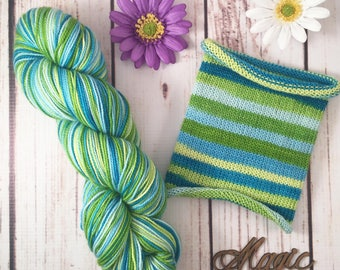 Do You Even Science?: Hand-dyed gradient self-striping sock yarn, 75/25 SW merino/nylon