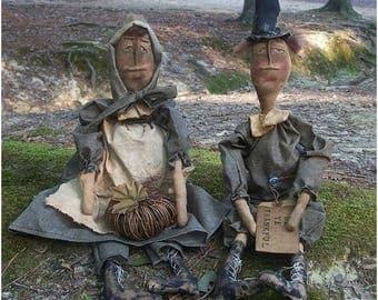 CustomerAppreciationSale Primitive Thanksgiving Pilgrims Set-