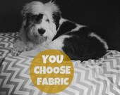 Designer Dog Bed Cover, Choose from 100s of Fabrics, Cat Bed Cover, Chevron Duvet Cover, YOU Choose