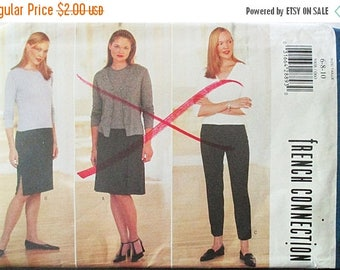 ON SALE 1990s Sewing Pattern Butterick 5908 Misses Skirt & Pants Pattern Size 6, 8, 10 Uncut