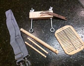 8 dpi complete Backstrap Loom w/heddle & band lock