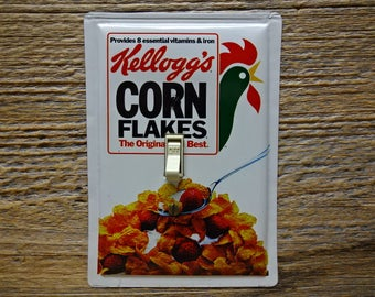 Retro Decor Light Switch Cover Plate Covers Kelloggs Corn Flakes Cereal Tin Single Switchplates Toggle With Rooster SP-0073