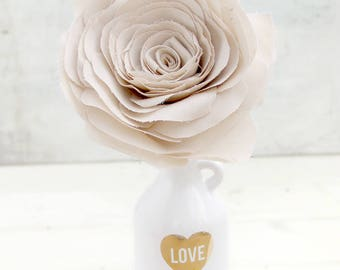 4th Anniversary Champagne colour fine Linen Fabric Flower Gift for Her Wife Girlfriend Fianceemade to order check processing times