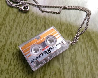 Vintage 1980s Cassette Tape Necklace