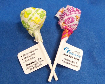 Personalized Promotional Lollipop Favor Labels Stickers Glossy Trade Show