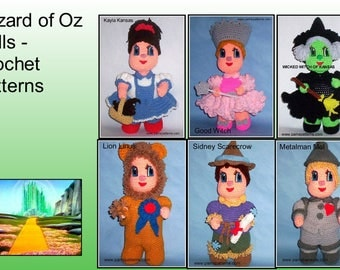 Wizard of Oz crochet Patterns, crochet dolls