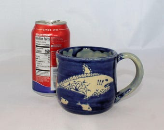 Patterned Shark Ceramic Mug