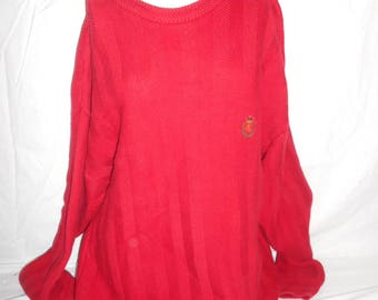 Vintage Mens Ralph Lauren Chaps XL   pullover red  sweater