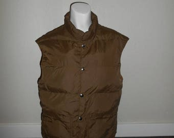 Closing Shop 40%off SALE Vintage 70s 80s   reversible   Goose Down Vest    made in Usa
