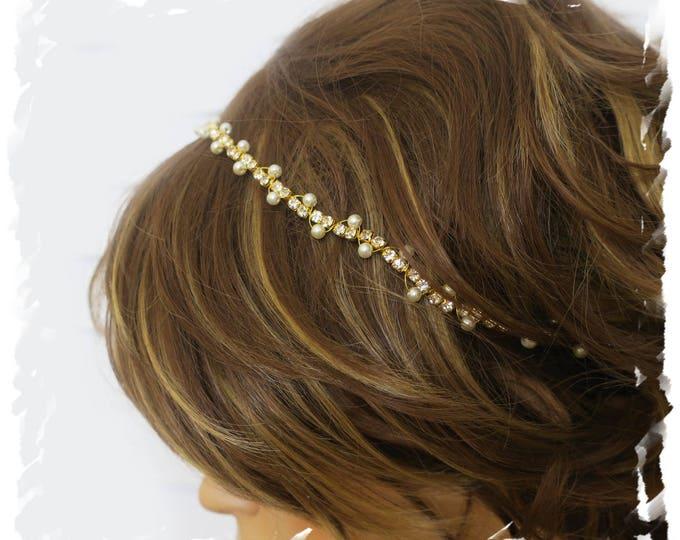Gold Rhinestone Headband
