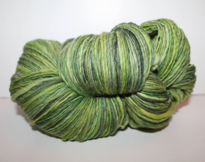 Handspun Merino Wool Yarn.  Single ply Worsted Weight. Kettle Dyed. Super Fine Merino. Appx. 1/2lb 530 yards