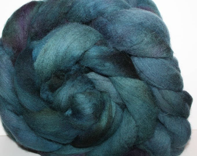 Kettle dyed Cheviot wool top. Roving. Spin. Knit. Felt. Huge 1lb. Braid