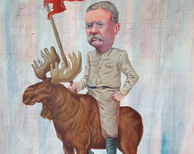 Featured listing image: Rough Rider - Original painting by Mr Hooper of Nashville Tennessee