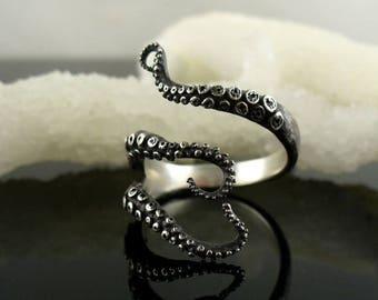 SALE SALE - Ready to Ship! Handmade Jewelry, Tentacle Ring, Octopus Ring, OctopusME, Wicked tentacle ring