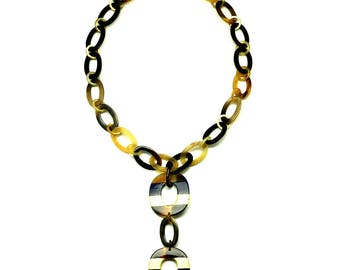 Horn & Lacquer Chain Necklace - Q12815