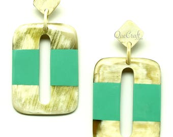 Horn & Lacquer Earrings - Q12853-L