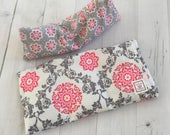 Heating Pad and Eye pillow, Gift Set, Microwavable, Aromatherapy, flax seed, Removable cover, Spa Pillow, Heat Therapy, hot cold packs