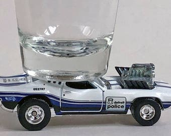 The ORIGINAL Hot Shot Shot Glass, Roger Dodger, Detroit Police, Detroit 143, Hot Wheel car