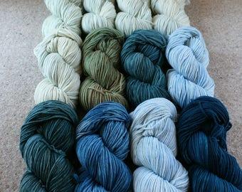Cool Story Bro Set of 12 skeins of Windham 100% US grown merino wool, 2640yds/2414m total