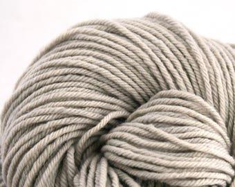 Hand Dyed Aran weight mini Empire Rambouillet Wool 213 yds 4oz Bone