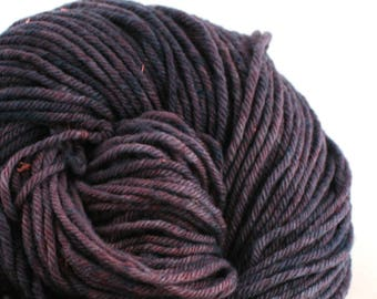 Hand Dyed Aran weight mini Empire Rambouillet Wool 213 yds 4oz Concord