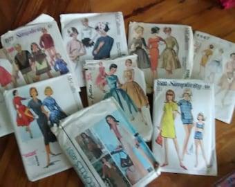 Large Lot of 60s Patterns Womens Marlo Thomas