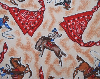 BTY Novelty cowboy flannel FABRIC rodeo horses fabric baby cowboy blanket fabric