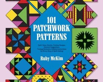 SALE - 101 Patchwork Patterns - By Ruby McKim - 1962 - 3.50 Dollars