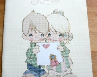 Vintage precious Moments Cross Stitch Holiday needle arts Christmas Love couples, cross stitch patterns, embroidery patterns/sports ballett