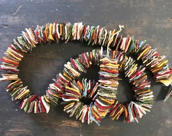 100% Felted Wool Hand Cut Square Garland