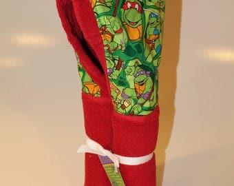 Teenage Mutant Ninja Turtles red hooded towel