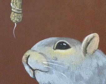 Wishful Thinking squirrel blank card