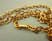 Cable Chain Necklace Vintage - 24 inch