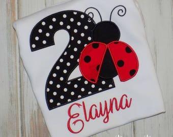 Ladybug birthday shirt, Ladybug shirt, Lady bug birthday shirt, Lady bug Shirt, girl shirt, red black ladybug shirt, sew cute creations