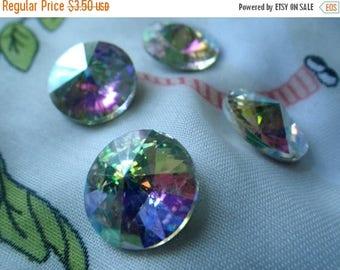 SALE 30% Off Crystal AB 18mm Rivoli Chinese Crystal 4 Pcs