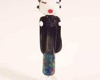 Shinobu - Japanese Geisha Style Glass Lampwork Beads