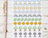 Nature Icons MATTE Sticker Sheet | For Kikki K, ECLP, Bullet Journals and  Planners