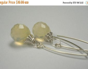 ON-SALE Dangle Pineapple Quartz and Sterling Silver Earrings - Pineapple Drop Earringsm - Weekly Deals