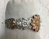 Bee and Sunflower Spoon Handle Bracelet