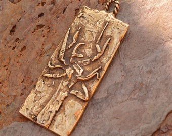 Gold Bronze Tree Charm or Pendant, Beautiful Artisan Tree, AD-598