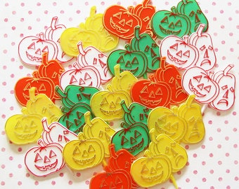 Jack O'Lantern Time...Colorful Lot of Vintage Halloween Cupcake Decorating Picks