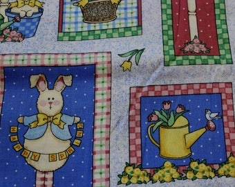 "Daisy Kingdom Happy Spring Patch by Sandi Gore-Evans 100% cotton 42""-44"" wide"