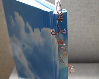 Love Copper Wire Silver Metal Bookmark Mixed Metal