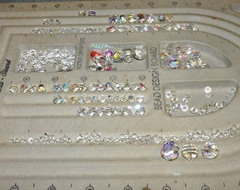 Crystal Bead lot,  Glass Clear Beads, Most New Some Recycled