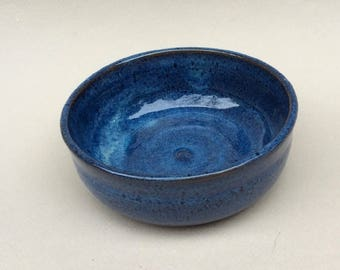 SMALL little blue bowl - prep work- trinkets - serving dish- handmade ceramic-pottery-stoneware-dessert dish